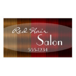 Shades of Red Hair Color Stylist Business Cards