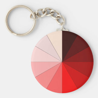 shades of red keychain
