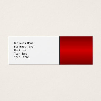 Shades of Red. Mini Business Card