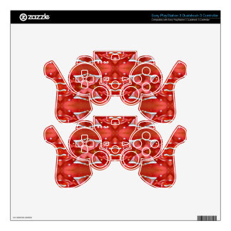 Shades Of Red Modern Festive Design Decal For PS3 Controller