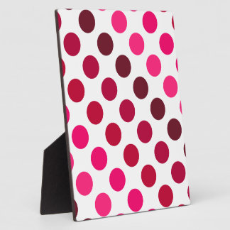 Shades of Red Polka Dot Stripes Plaque