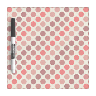 Shades of Red Polka Dots by Shirley Taylor Dry Erase Board