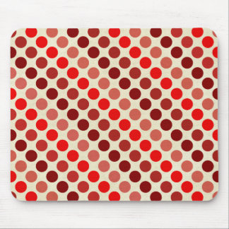 Shades of Red Polka Dots by Shirley Taylor Mouse Pad