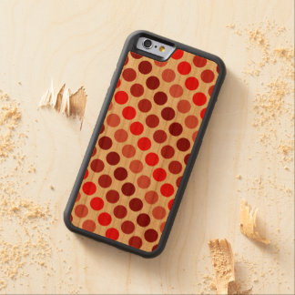 Shades Of Red Polka Dots Carved® Cherry iPhone 6 Bumper