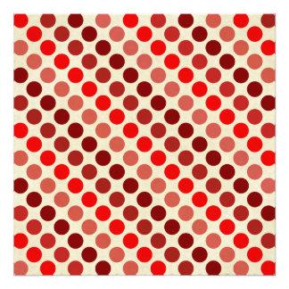 Shades Of Red Polka Dots Art Photo
