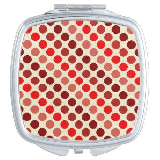 Shades Of Red Polka Dots Vanity Mirror