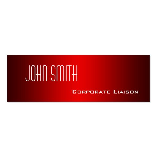 Shades of Red Professional Slim Business Cards