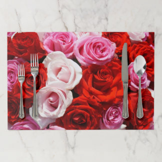 Shades of Red Roses Tearaway Placemats