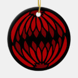 Shades of Red stained glass Christmas Tree Ornaments