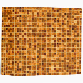 Shades Of Rust 'Watery' Mosaic Tile Pattern 3 Ring Binder