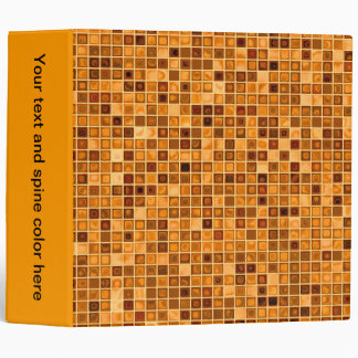 Shades Of Rust 'Watery' Mosaic Tile Pattern Binder