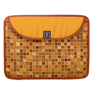 Shades Of Rust 'Watery' Mosaic Tile Pattern Sleeve For MacBook Pro