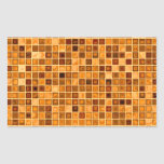 Shades Of Rust 'Watery' Mosaic Tile Pattern Rectangle Stickers