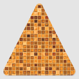 Shades Of Rust 'Watery' Mosaic Tile Pattern Triangle Sticker