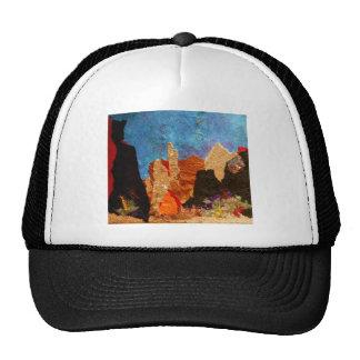 Shades of Sedona, collage Hats