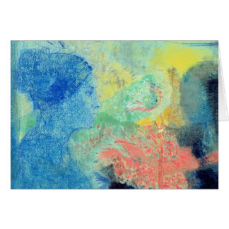 Shades of Sleep (pastel on paper Greeting Card