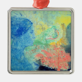 Shades of Sleep (pastel on paper Metal Ornament