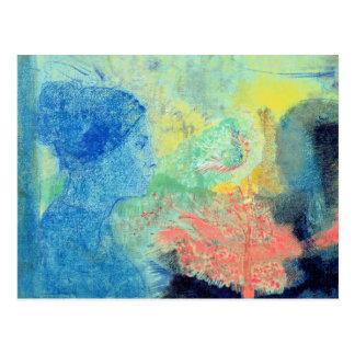 Shades of Sleep (pastel on paper Postcard