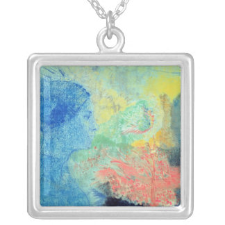 Shades of Sleep (pastel on paper Square Pendant Necklace