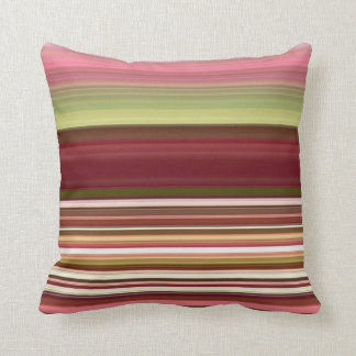 Shades of Stripes Throw Pillow