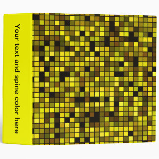 Shades Of Summer Yellow Squares Pattern Binder