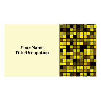 Shades Of Summer Yellow Squares Pattern Business Card Template