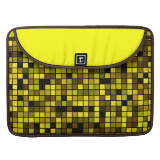 Shades Of Summer Yellow Squares Pattern MacBook Pro Sleeve