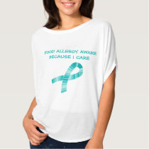 Shades of Teal Ribbon Food Allergy Awareness T-Shirt