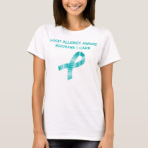 Shades of Teal Ribbon Food Allergy Awareness T-Shirt