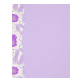 Shades of Violet Floral Retro Abstract Pattern Letterhead