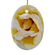 shades of white to yellow ceramic ornament
