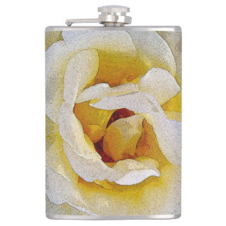 shades of white to yellow flask