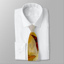 shades of white to yellow neck tie