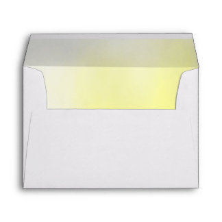 Shades of Yellow and Grey Ombre Lined Envelope
