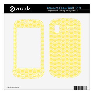 Shades of Yellow Decals For Samsung Focus