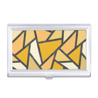 Shades of yellow stained glass pattern business card case