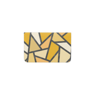 Shades of yellow stained glass pattern business card holder