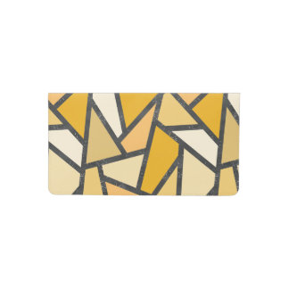 Shades of yellow stained glass pattern checkbook cover