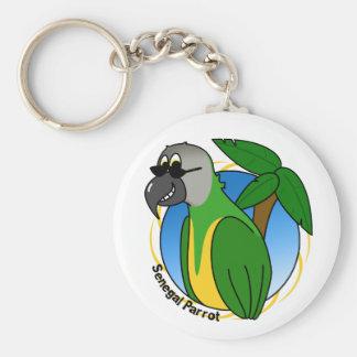 Shades Senegal Parrot Keychain