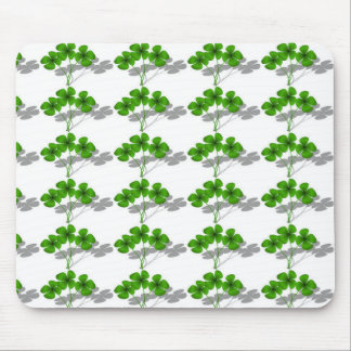 Shadow 4-Leaf Clover Mouse Pad