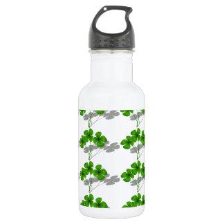 Shadow 4-Leaf Clover 18oz Water Bottle