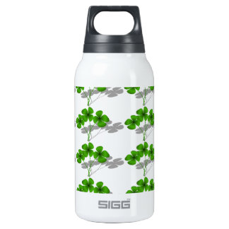 Shadow 4-Leaf Clover 10 Oz Insulated SIGG Thermos Water Bottle