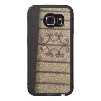 Shadow and asphalt wood phone case