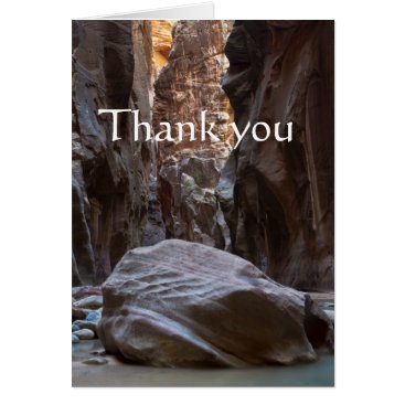 Shadow and light in the Narrows, Thank you Card