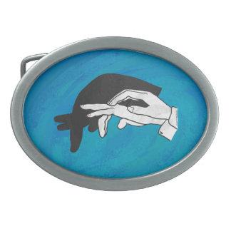 Shadow Anteater On Blue Belt Buckle