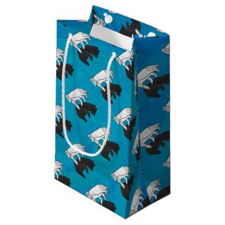Shadow Bear Cub on Blue Small Gift Bag