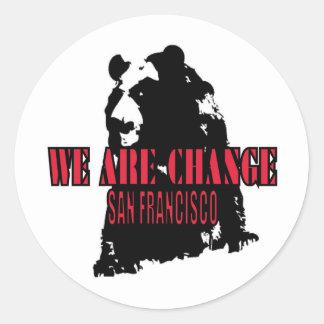Shadow Bear SF Classic Round Sticker