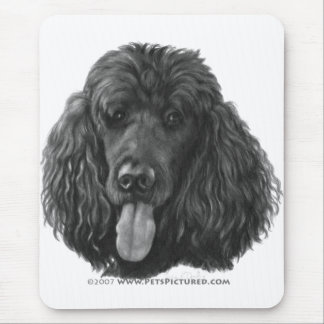 Shadow, Black Standard Poodle Mouse Pad