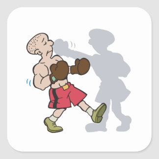 Shadow Boxing Square Sticker