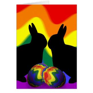 Shadow Bunnies Greeting Card